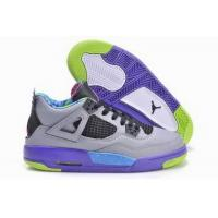 Wholesale 100% Authentic Air Jordan 4 Grey Purple Pink Green Womens from china suppliers
