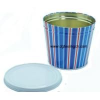 Buy cheap Cylindrical biscuit tin box with lid from wholesalers