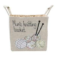 Buy cheap Personalised Linen Storage Basket for Wool, Knitting & Crochet Crafts from wholesalers