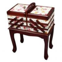 Wholesale Cantilever Wooden Sewing Box on Legs from china suppliers