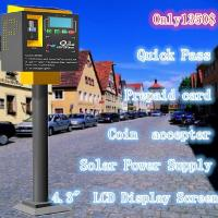 Buy cheap Elegant design lowest price solar parking meter coin payment machine used in street from wholesalers