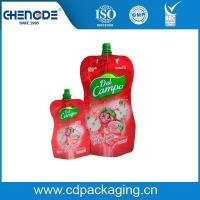 Wholesale Beverage packaging shape pouch with spout for apple juice from china suppliers