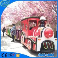 China Fiberglass body outdoor electric toy train sets on sale