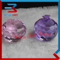 Wholesale Optical Apple Shaped Crystal Glass Paperweight from china suppliers