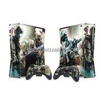 Crystal Epoxy Skin Sticker Colourful For Xbox 360 Slim Console W/ 2 Controller Skin - 246 Themes Manufactures