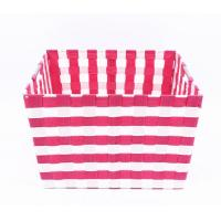 Hand woven polypropylene ribbons storage basket Number: FTYQ16-105 Manufactures