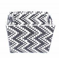 China PP with hand woven twill storage basket/steel framework on sale