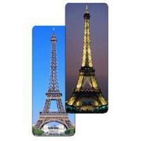 Wholesale Lenticular bookmark with Paris, France Eiffel Tower changes from day to night from china suppliers