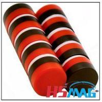 Buy cheap Red and Black Plastic Coating Round Neodymium Magnet from wholesalers