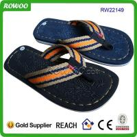 Buy cheap Fancy stylish men textile slippers from wholesalers