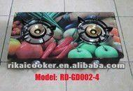 colored Double Burners Gas Stove/cast iron buring gas stove RD-GD002-4 Manufactures