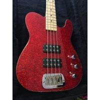 Buy cheap G&L USA Tom Hamilton/Aerosmith ASAT Red Metal Flake 4-String Electric Bass Guitar 2016 from wholesalers