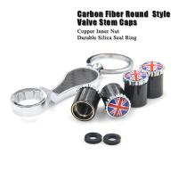 Wholesale Dreamer Car Carbon Fiber Anti Theft Tire Valve Caps with Spanner SKU: CF from china suppliers