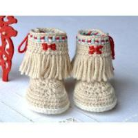 Buy cheap CROCHET PATTERN Baby Booties Fringe Moccasins 3 Sizes Photo Native American Style Baby Shoes from wholesalers