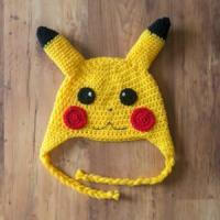 Buy cheap Pikachu Crochet Hat, Pickachu Beanie, Milk Cotton Pokemon Hat from wholesalers