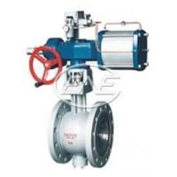 Buy cheap Pneumatic V-shaped adjustable ball valve Sizes:25~300mm Flow from wholesalers