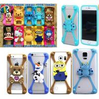 Wholesale Christmas gift 3D cartoon universal silicone bumper case for mobile phone from china suppliers