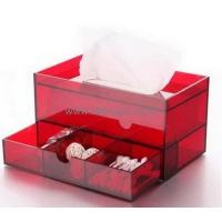 Wholesale Hot selling acrylic tissue box clear plastic box plastic storage box with dividers BTB-098 from china suppliers