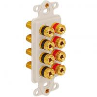 Buy cheap INSERT, DECOREX, 8 BINDING POST, WHITE Configurable Faceplates from wholesalers