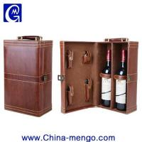 Wholesale Two Bottle Of Whiskey Packing PU Leather Wine Box from china suppliers