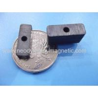 Buy cheap Y30 Y35 Y40 Permanent Big Block Ceramic Ferrite Magnet With Hole from wholesalers