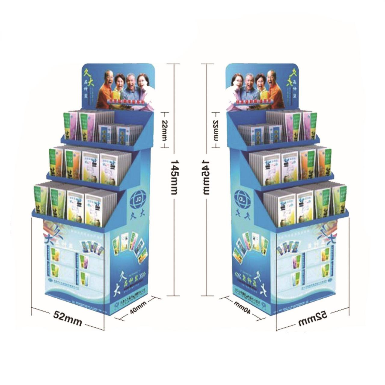 Wholesale Carton material various trays floor freestanding cardboard LCD CD display shelf from china suppliers