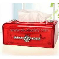 Wholesale Customized acrylic plastic tissue box custom plastic box colored acrylic box DBS-105 from china suppliers