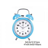 Wholesale Blue Plastic Twin Bell Alarm Clock AM0009C from china suppliers