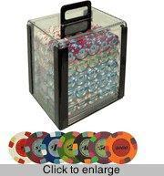 Buy cheap Poker Sets Paulson 1,000 Chip Set in a Clear Carrier from wholesalers