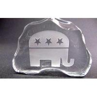 Wholesale Republican 24% lead crystal paperweight / plaque, glass iceberg from china suppliers