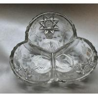 Wholesale American Brilliant Period Hand Cut Antique Crystal 3 section Signed Ha from china suppliers