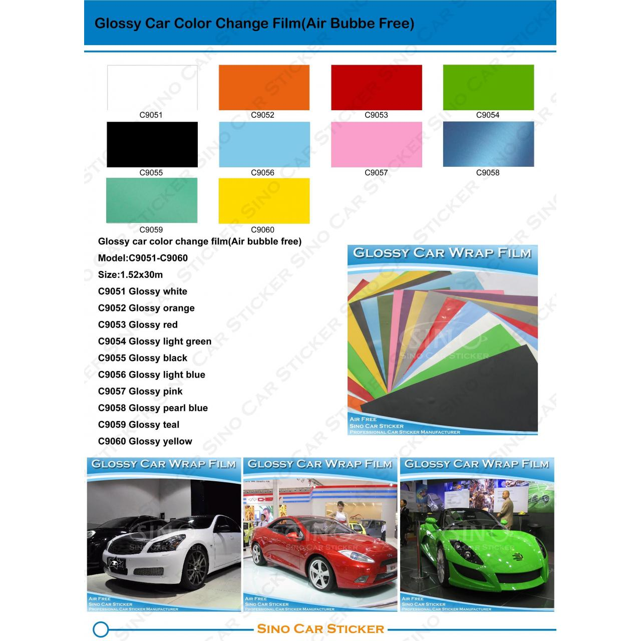 Buy cheap Glossy Car Color Changing Vinyl Film from wholesalers