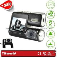 Buy cheap full hd dual camera car dvr X2 front and back double lens night vision from wholesalers