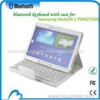 Wholesale Tablet PC Bluetooth Keyboard Leather Case for Samsung NOTE 10.1 P600/T520 from china suppliers