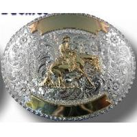 Apparel and Beauty Silver & Gold Custom Trophy Buckle