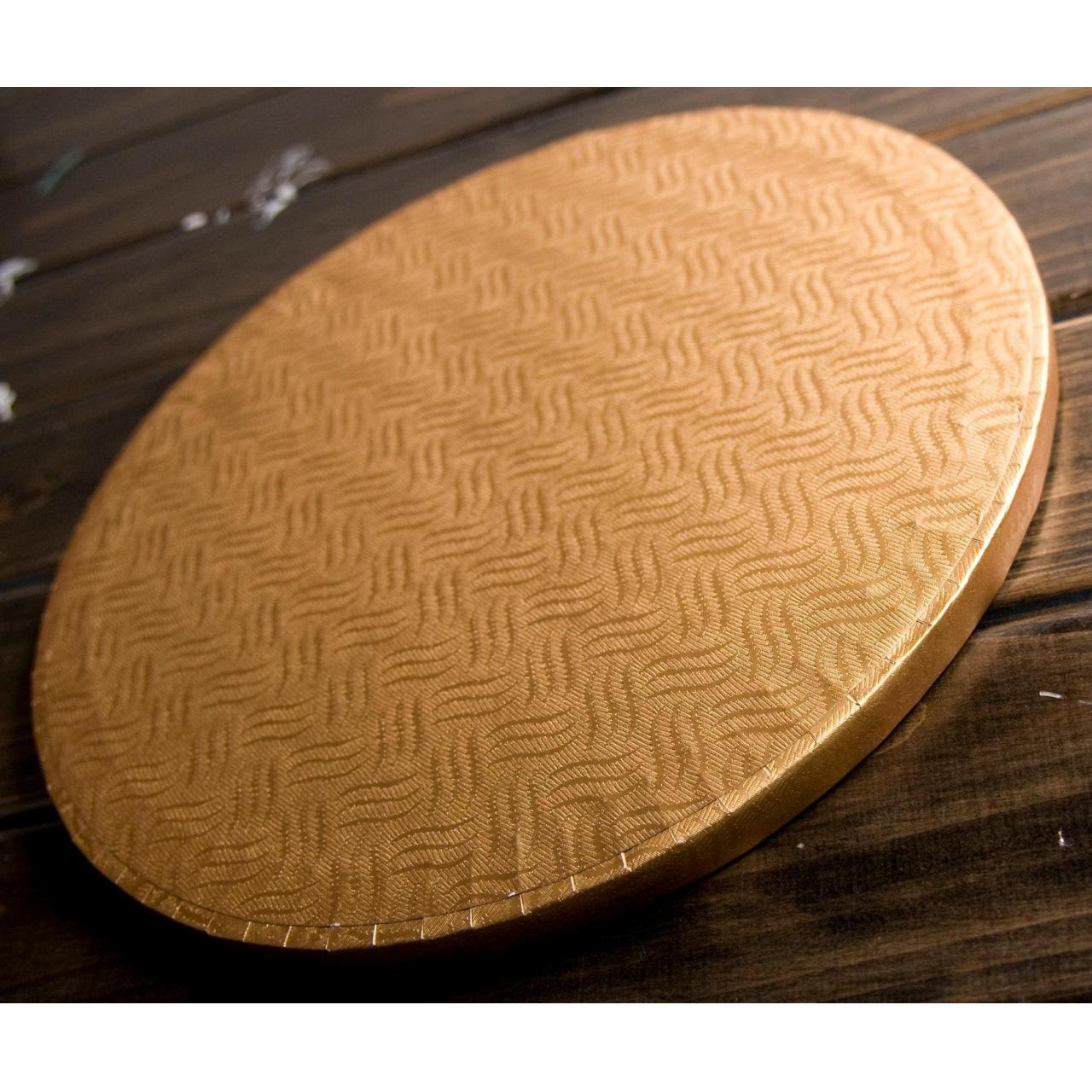 Buy cheap 6 Inch Round Cake Board, Gold Corrugated with Premium Wrapped Edges from wholesalers
