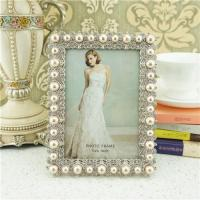 Wholesale Metal photo frame/elegant pearl photo frame from china suppliers