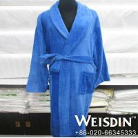 Buy cheap Heated hotel quality embroidered luxury hotel bathrobe from wholesalers