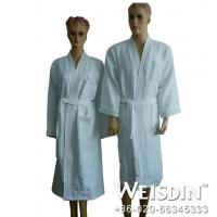 Buy cheap luxury microfiber custom waffle bathrobe for hotel from wholesalers