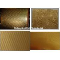 Buy cheap Gold aluminum foil embossed paper from wholesalers