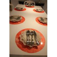 red placemats and coasters Red Round Placemats