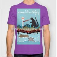 Buy cheap Good-looking Men's Pima Cotton T-shirt Front Printed Big Size from wholesalers