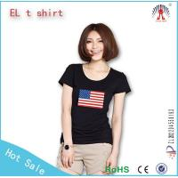 Buy cheap Wholesale american flag el t shirt led t shirts customized from wholesalers