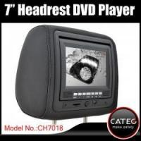 Buy cheap 7 car headrest monitor with DVD player for seat back entertainment system from wholesalers