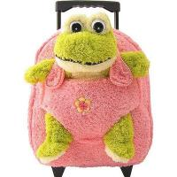 Kids-Beige-Rolling-Backpack-With-Frog Manufactures