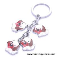 Wholesale fancy dog metal keychains from china suppliers
