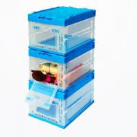 Jpn Collapsible Plastic Box Attached Lid with a side-35L(530*365*335mm)