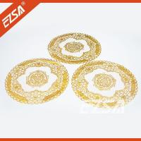 Buy cheap EZS Embossed PVC Foaming Hotel Banquet Decorative Plain Round Plastic Table Mat from wholesalers