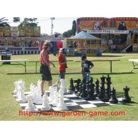 Wholesale King Tall 25 Inch Giant Garden Outdoor Chess Set with Plastic Board from china suppliers