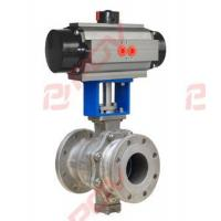 China Metal seal pneumatic ball valve on sale